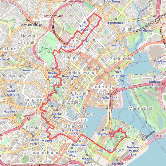 Singapore GPS track, route, trail