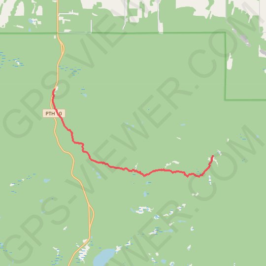 Crawford Creek Trail - Dauphin Lake GPS track, route, trail